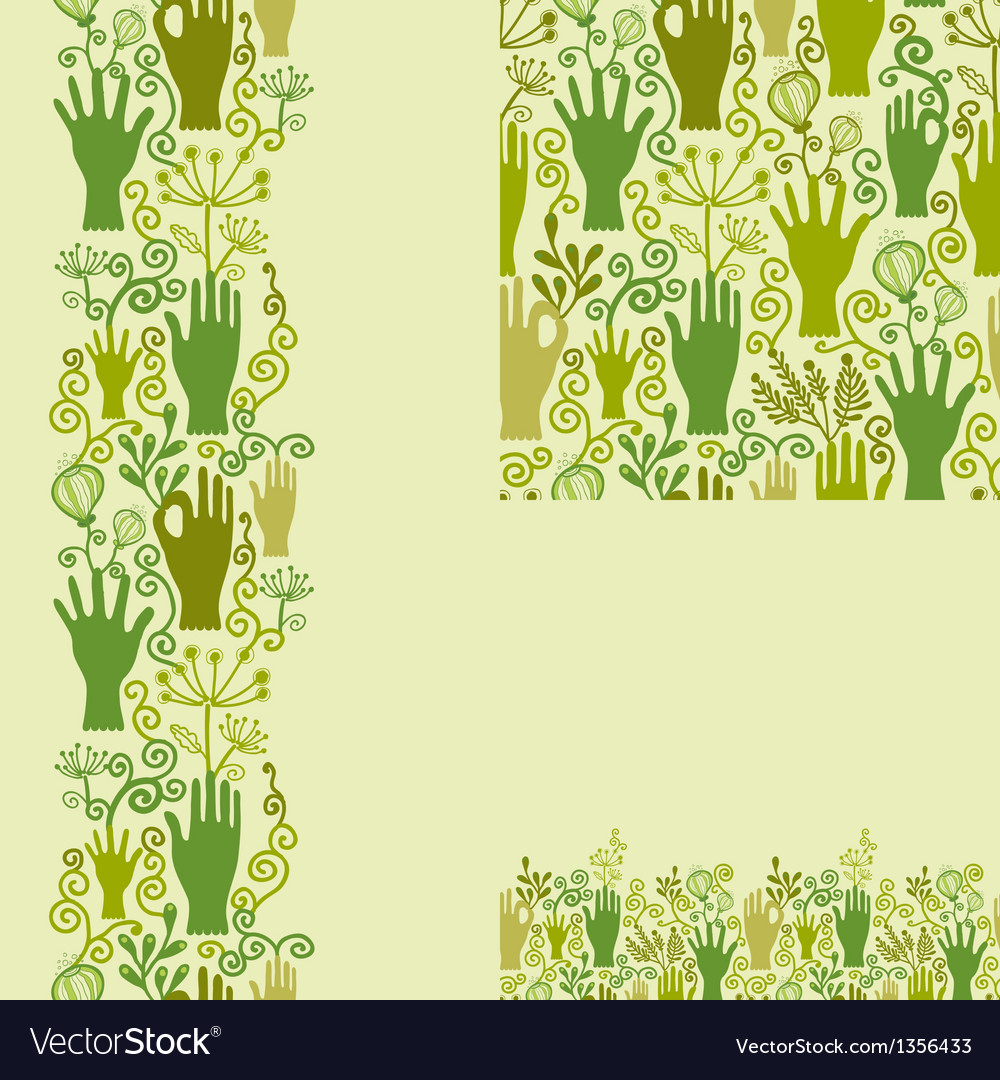 Protect our nature seamless pattern background vector | Price: 1 Credit (USD $1)