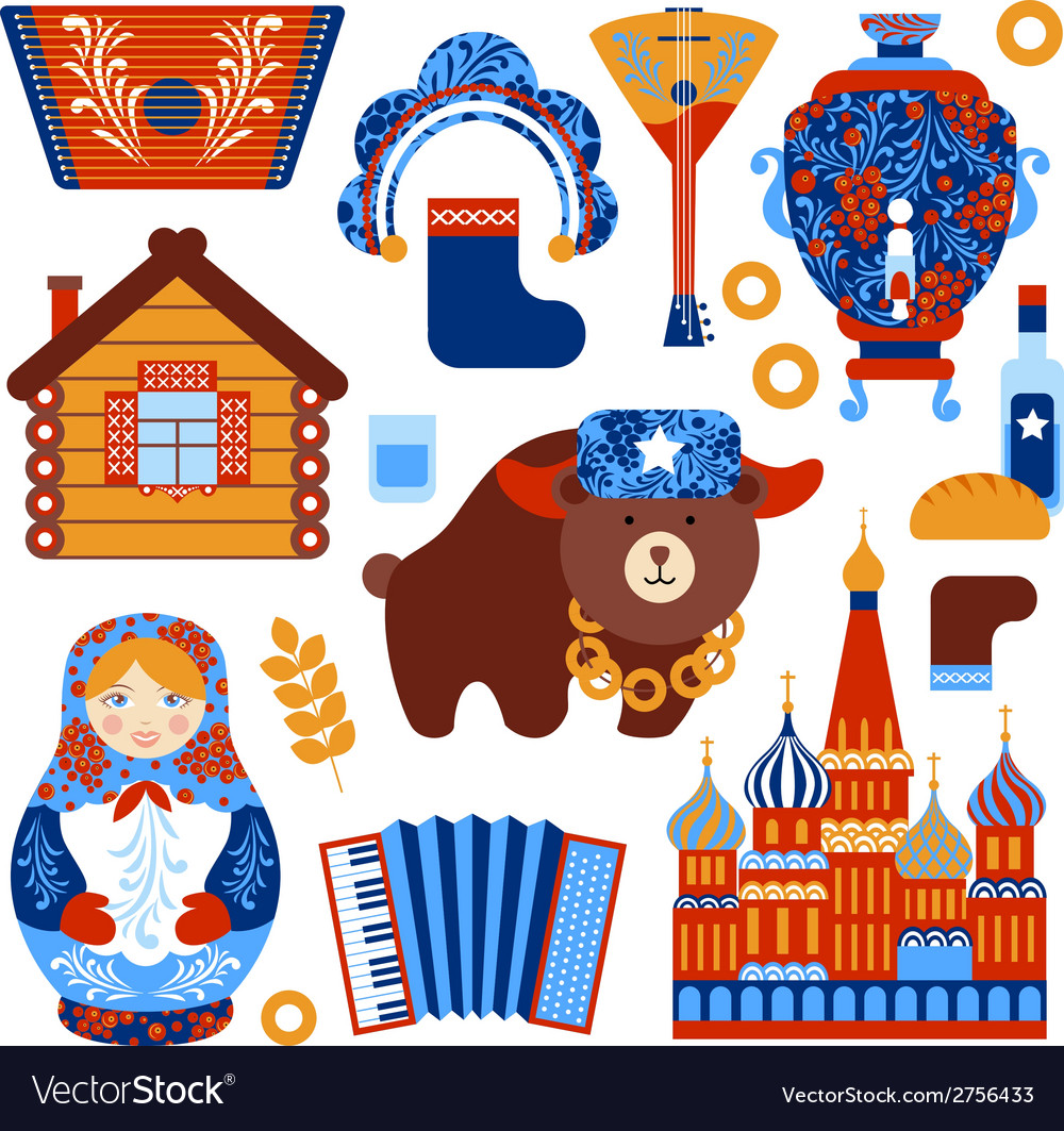 Russia travel set vector | Price: 1 Credit (USD $1)