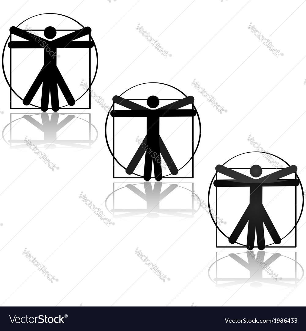 Vitruvian icon vector | Price: 1 Credit (USD $1)