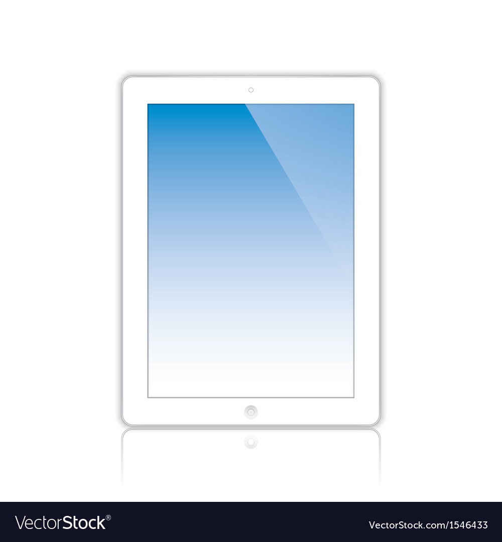 White computer tablet vector | Price: 1 Credit (USD $1)