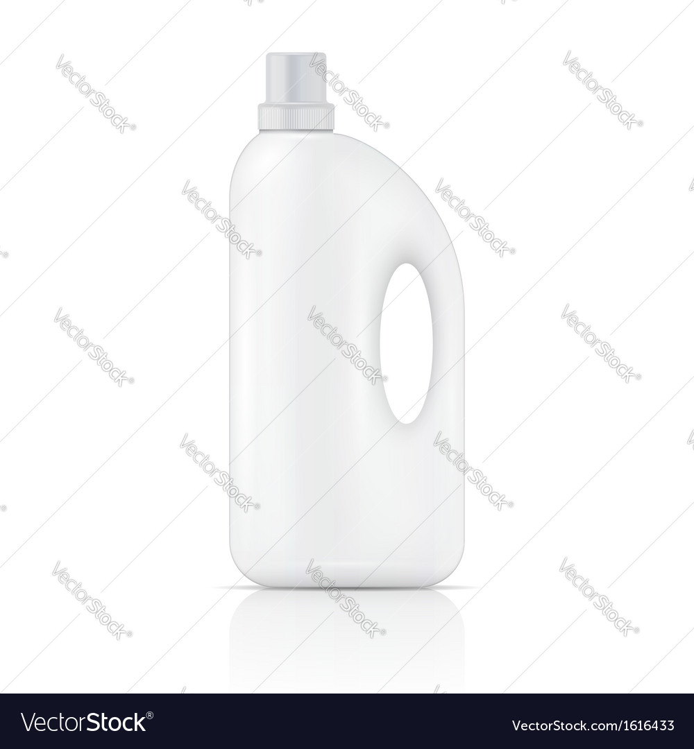 White liquid laundry detergent bottle vector | Price: 1 Credit (USD $1)
