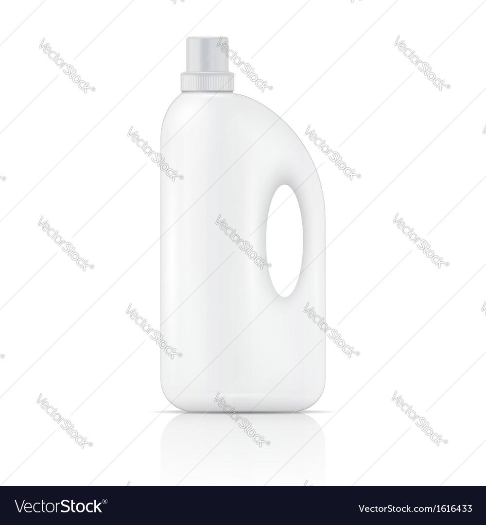White liquid laundry detergent bottle vector | Price: 1 Credit (USD $1)