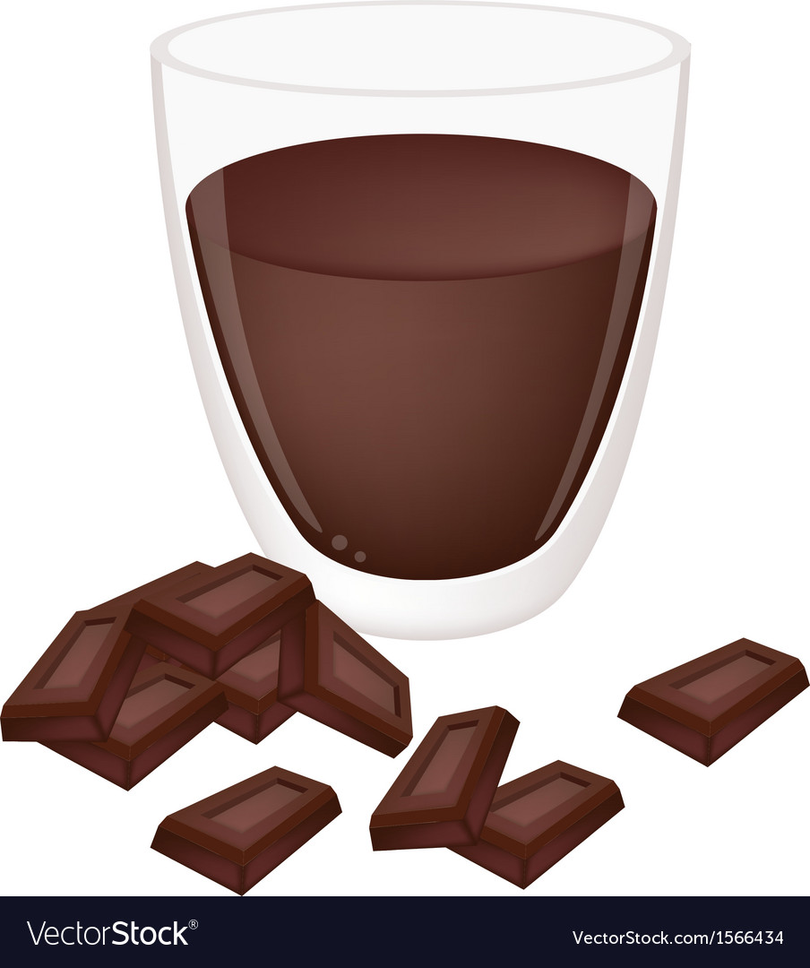 A cup of hot cocoa with chocolate vector | Price: 1 Credit (USD $1)