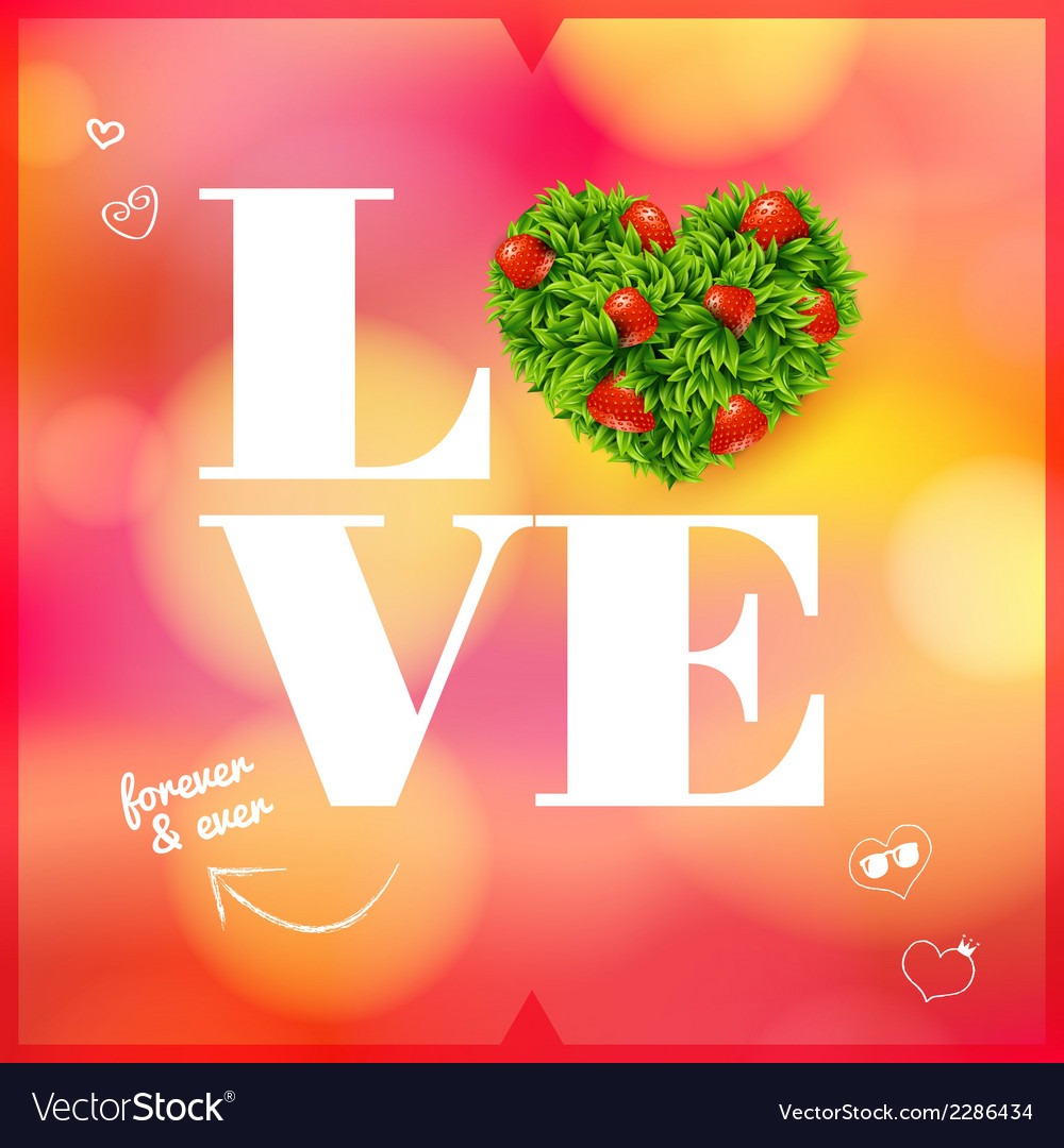 Abstract romantic card soft blurry background vector | Price: 1 Credit (USD $1)