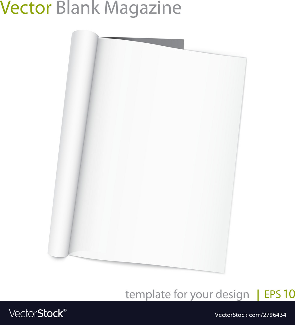 Blank page of magazine on white background vector | Price: 1 Credit (USD $1)