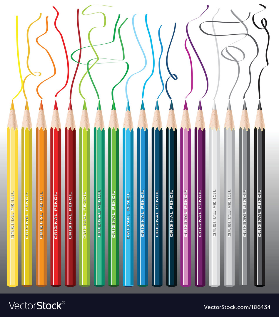 Color pencils crayon vector | Price: 1 Credit (USD $1)