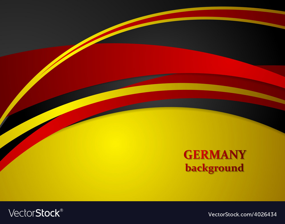 Corporate wavy abstract background german colors vector | Price: 1 Credit (USD $1)