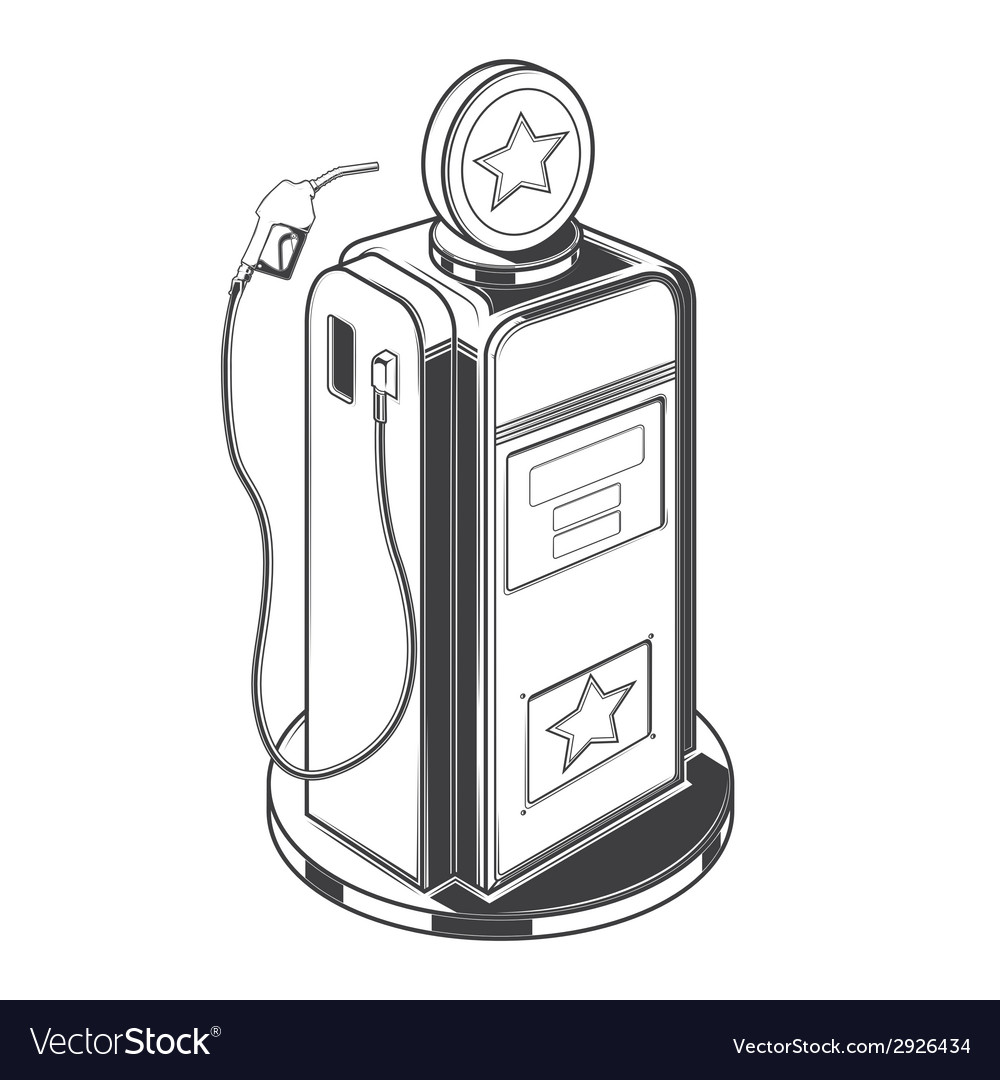 Gasoline station pump vector | Price: 1 Credit (USD $1)
