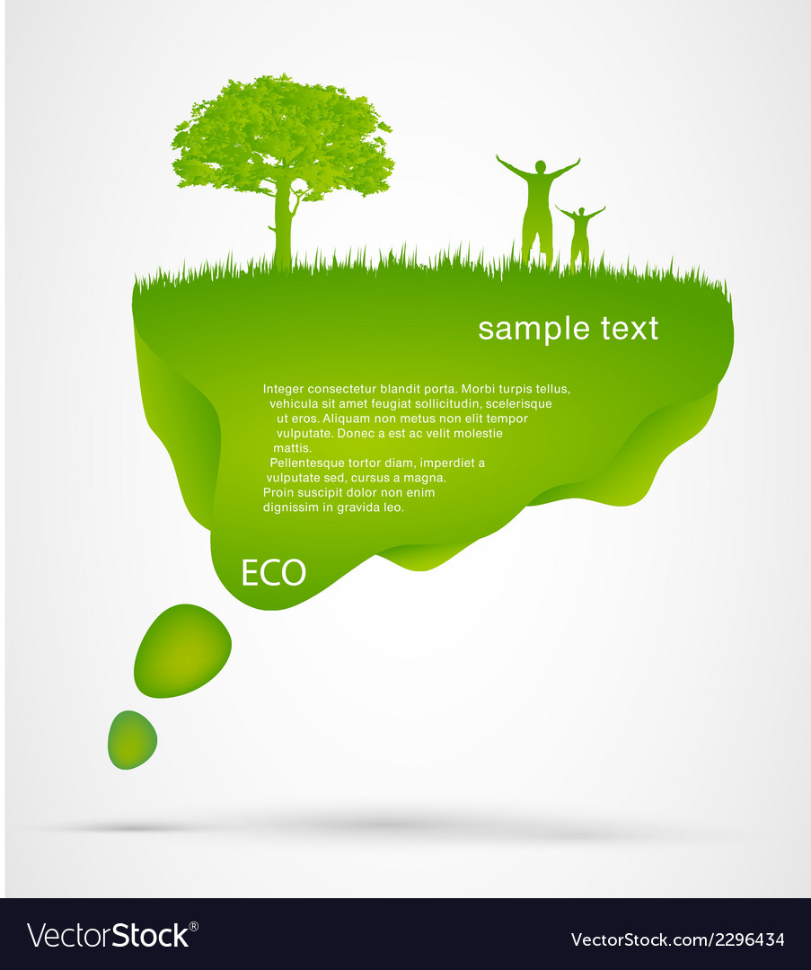 Green speech bubble with a flowers vector   Price: 1 Credit (USD $1)