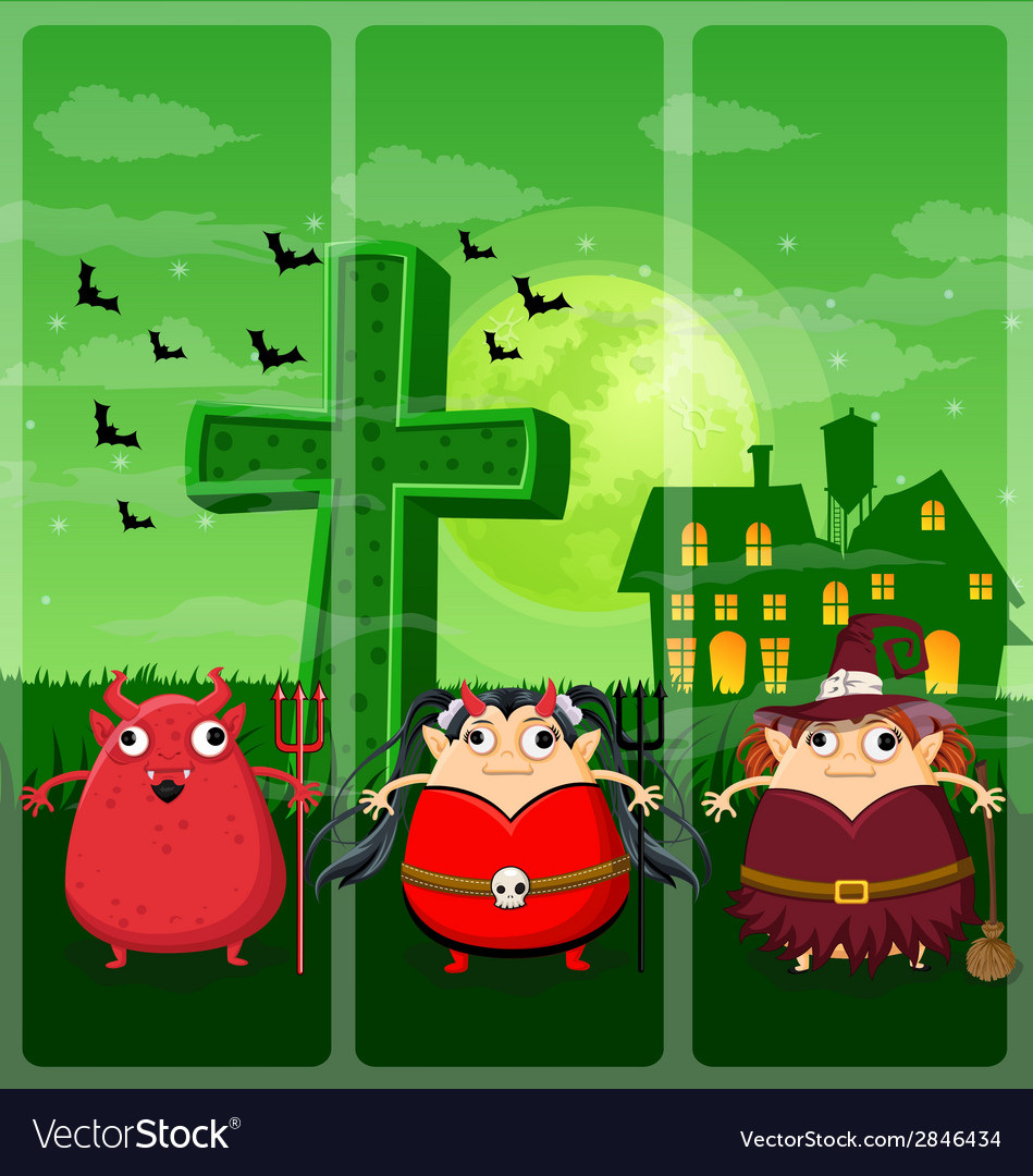Halloween and background set 2 vector | Price: 1 Credit (USD $1)