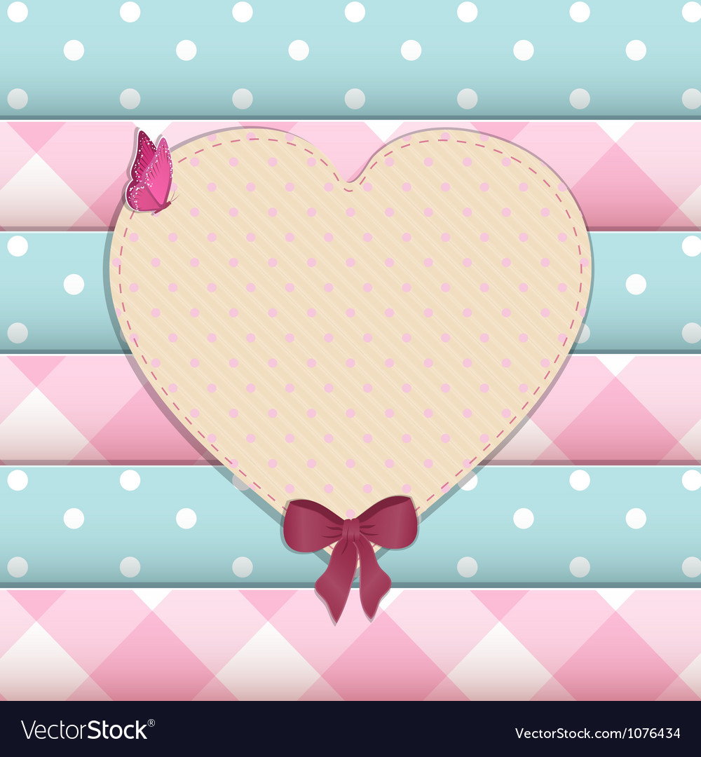 Heart scrap book background vector | Price: 1 Credit (USD $1)