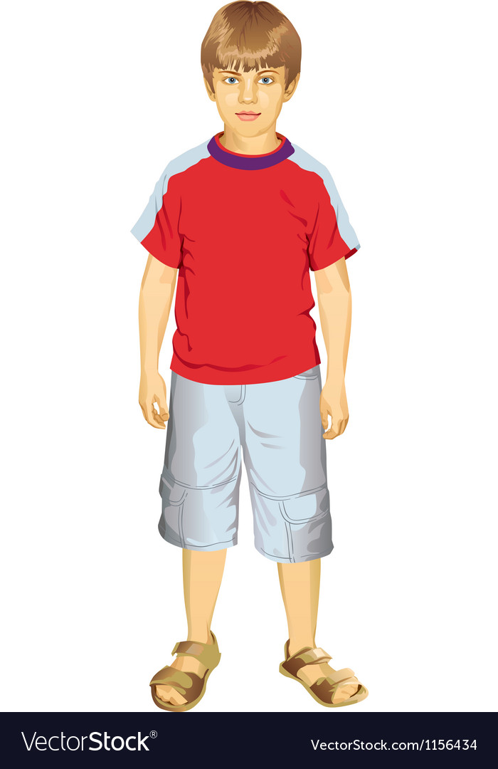 Little boy standing vector | Price: 3 Credit (USD $3)