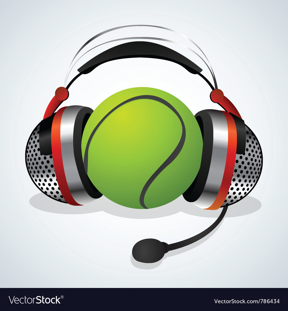 Microphone and tennis ball vector | Price: 1 Credit (USD $1)