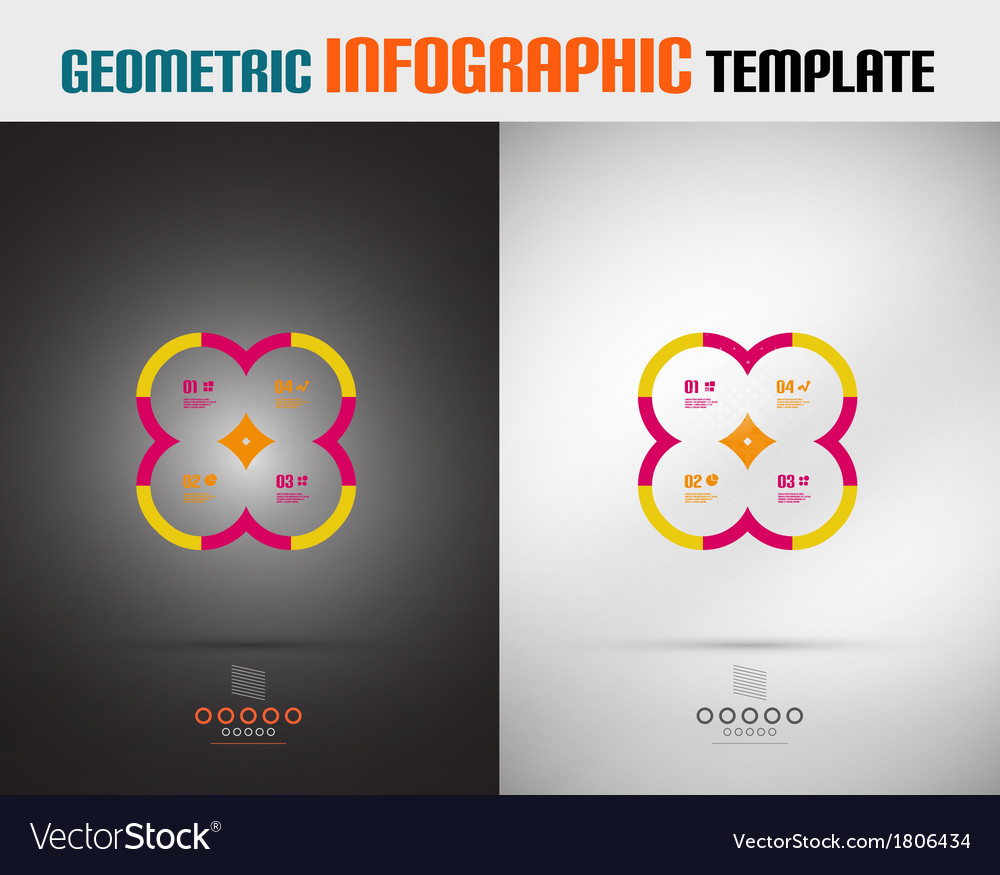 Modern geometric design template vector | Price: 1 Credit (USD $1)