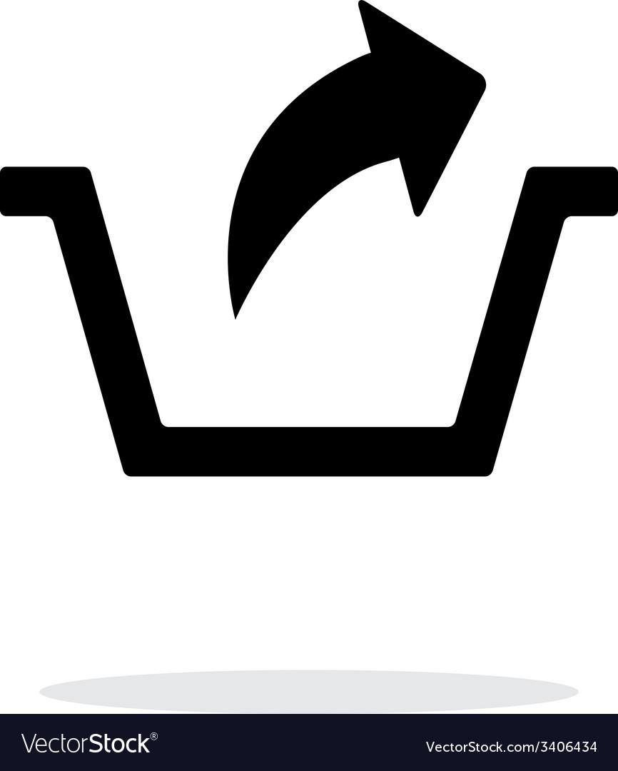 Remove from basket simple icon on white background vector | Price: 1 Credit (USD $1)