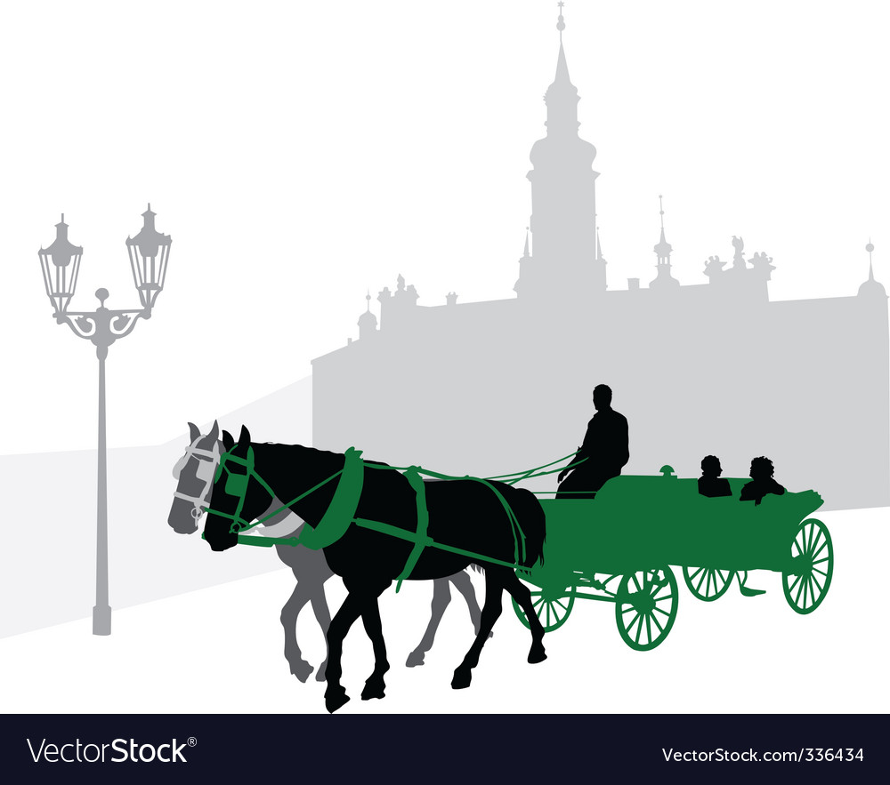 Silhouette of a carriage vector | Price: 1 Credit (USD $1)