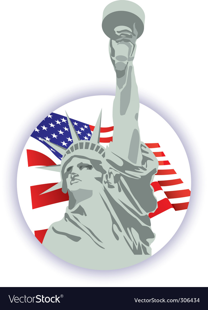Statue of liberty icon vector | Price: 1 Credit (USD $1)