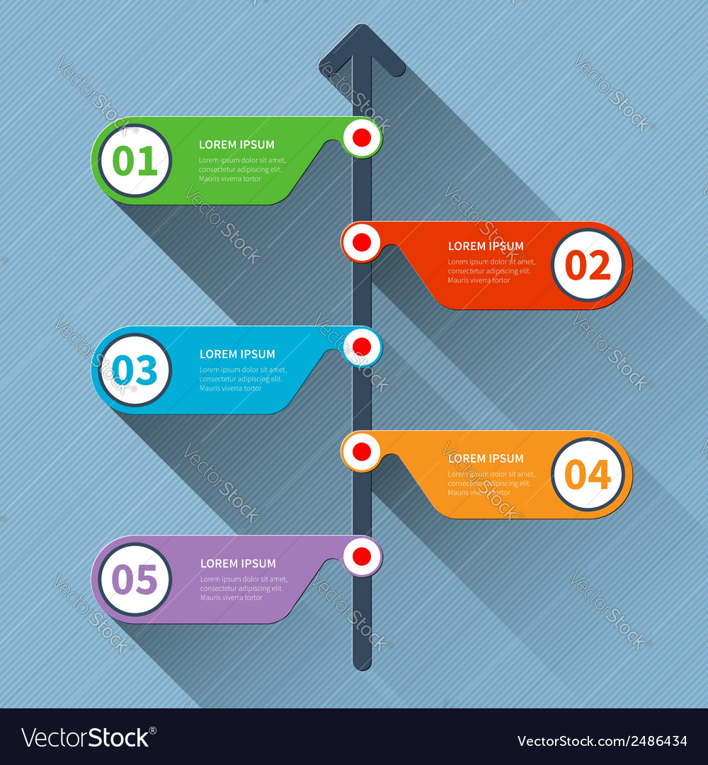 Timeline minimal infographics banner vector | Price: 1 Credit (USD $1)