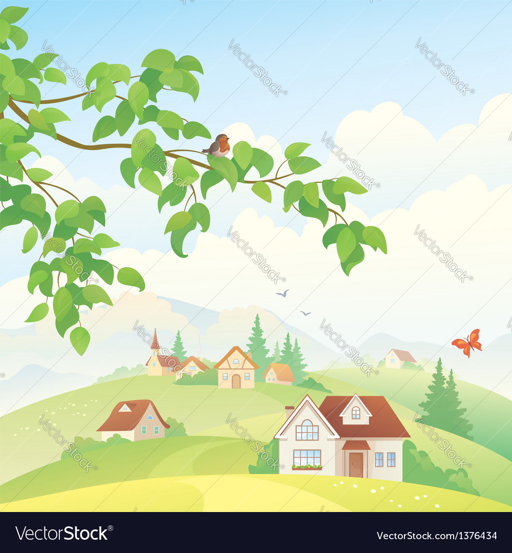 Village vector | Price: 3 Credit (USD $3)