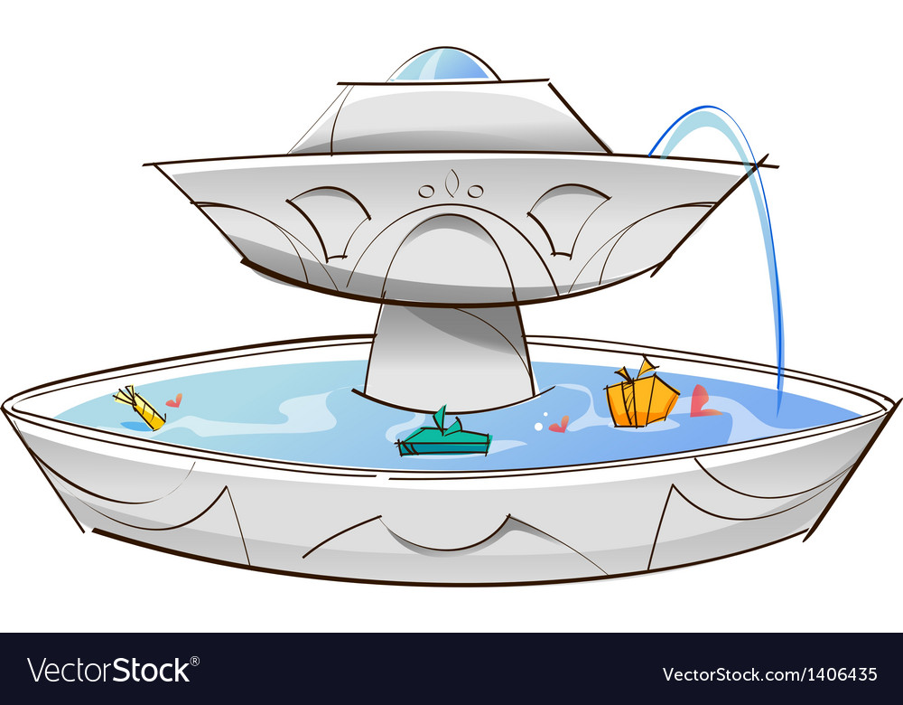 A view of fountain vector | Price: 1 Credit (USD $1)