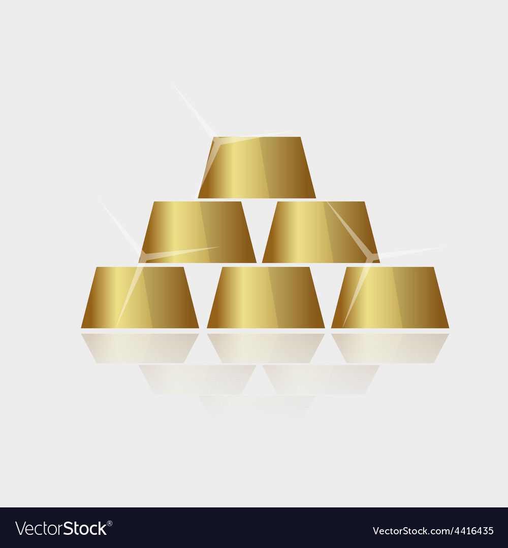 Expensive shiny gold bricks pyramid eps10 vector | Price: 1 Credit (USD $1)