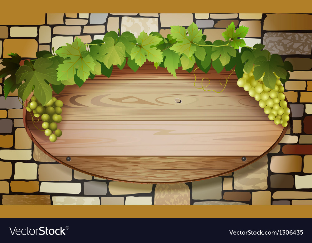 Grape banner vector | Price: 1 Credit (USD $1)