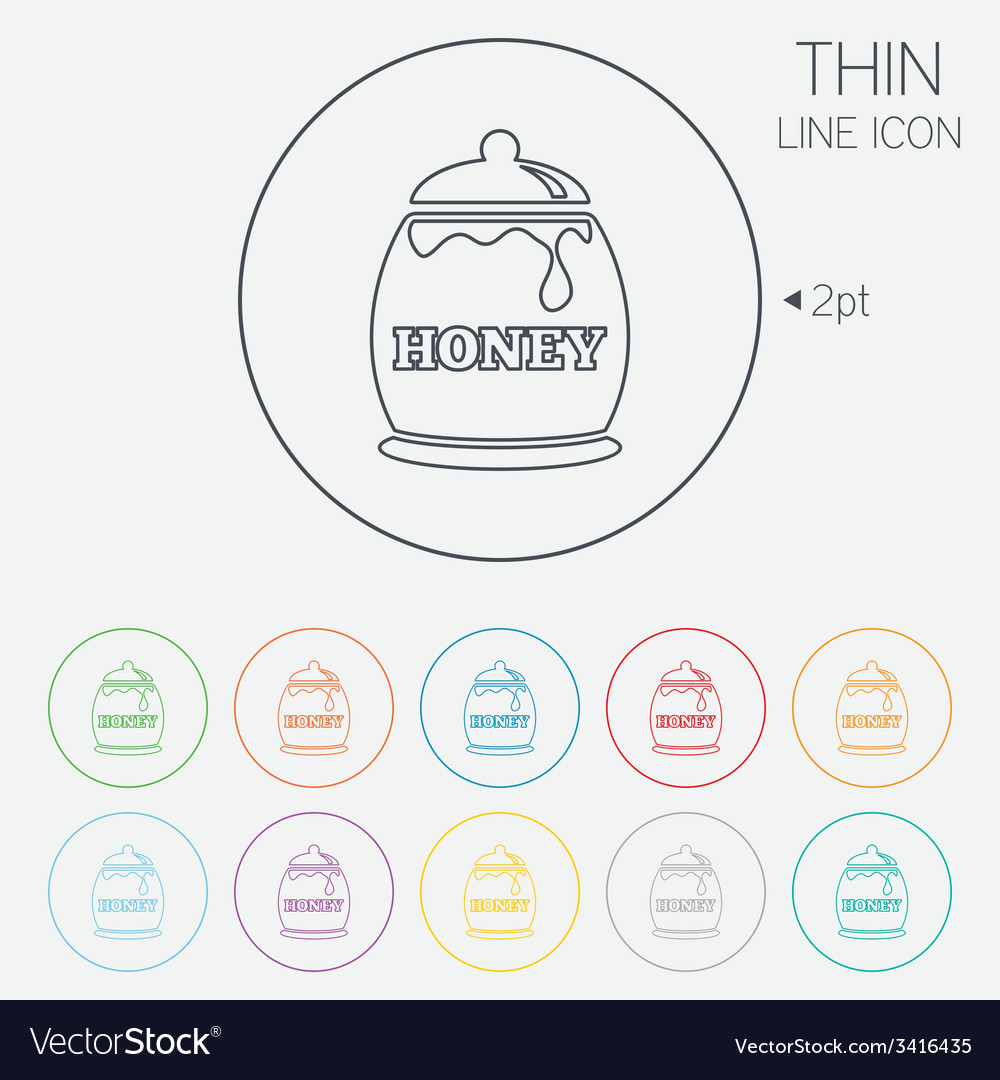 Honey in pot sign icon sweet natural food vector | Price: 1 Credit (USD $1)