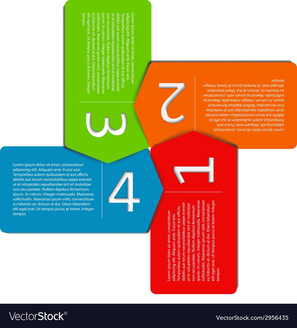Infographic roctangles vector | Price: 1 Credit (USD $1)