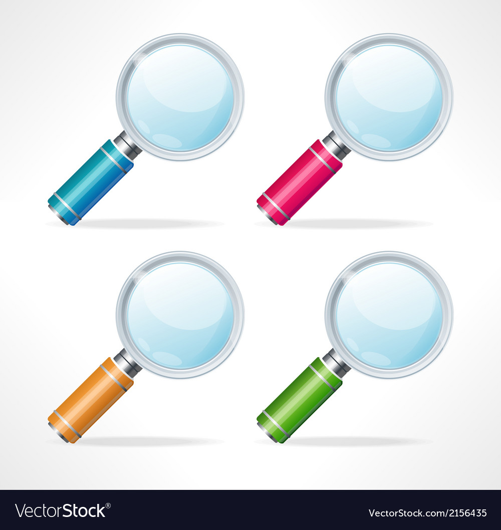 Magnifying glass icons vector | Price: 1 Credit (USD $1)