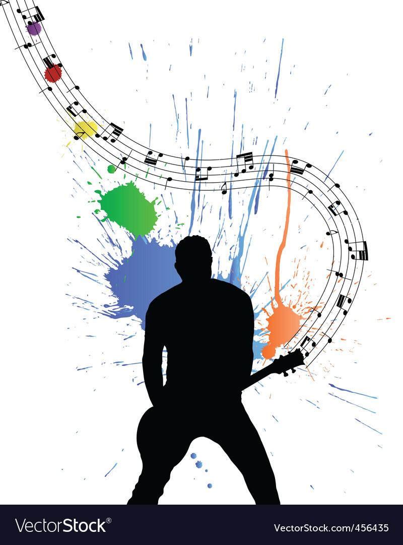 Rock guitarist vector | Price: 1 Credit (USD $1)