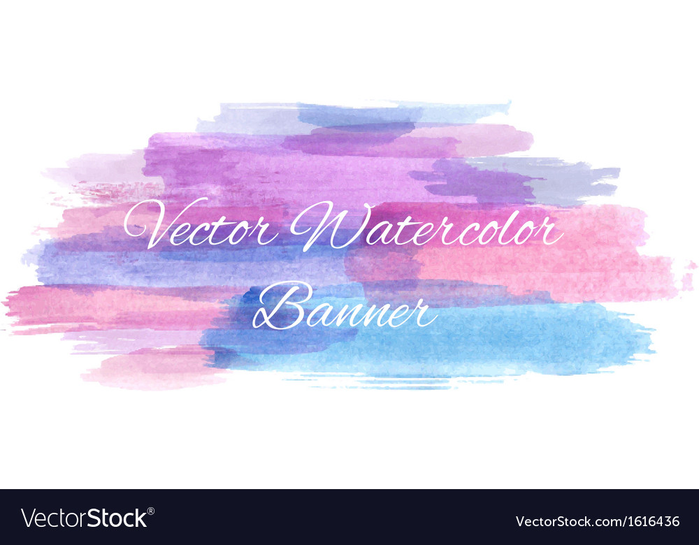 Abstract artistic watercolor banner vector | Price: 1 Credit (USD $1)