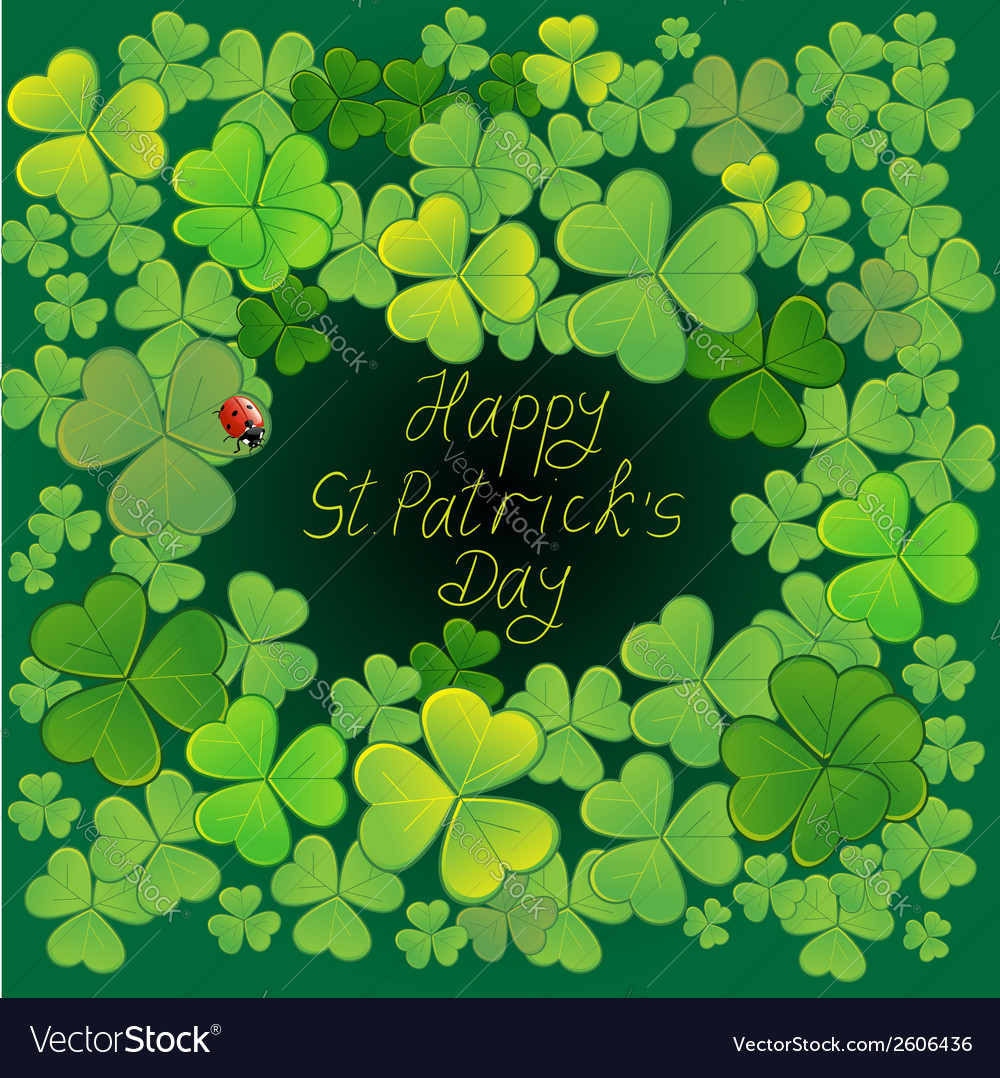 Background with clovers eps10 vector | Price: 1 Credit (USD $1)