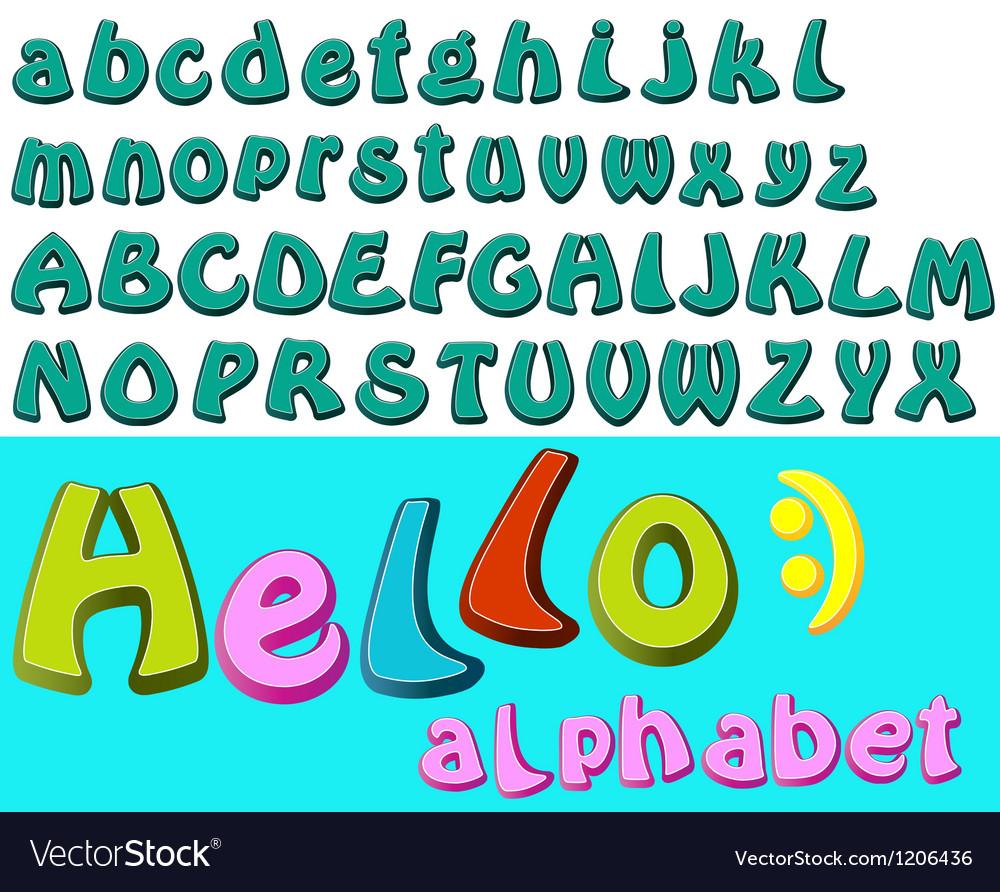 Cartoon alphabet vector   Price: 1 Credit (USD $1)
