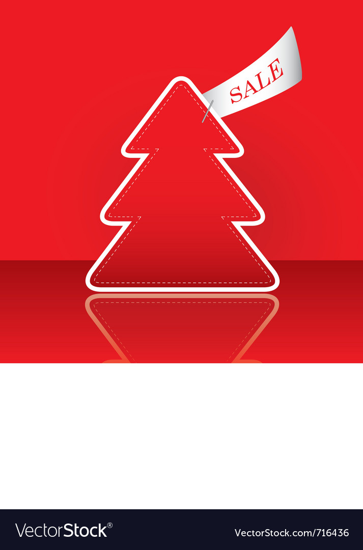 Christmas tree with sale tag vector | Price: 1 Credit (USD $1)