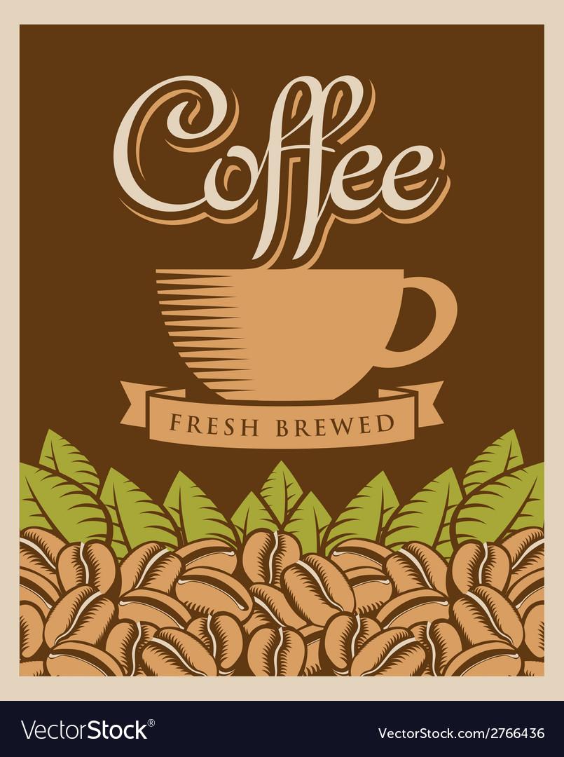 Coffee retro vector | Price: 1 Credit (USD $1)