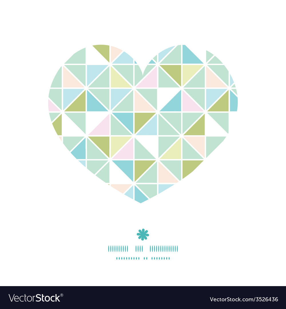 Colorful pastel triangle texture heart silhouette vector | Price: 1 Credit (USD $1)