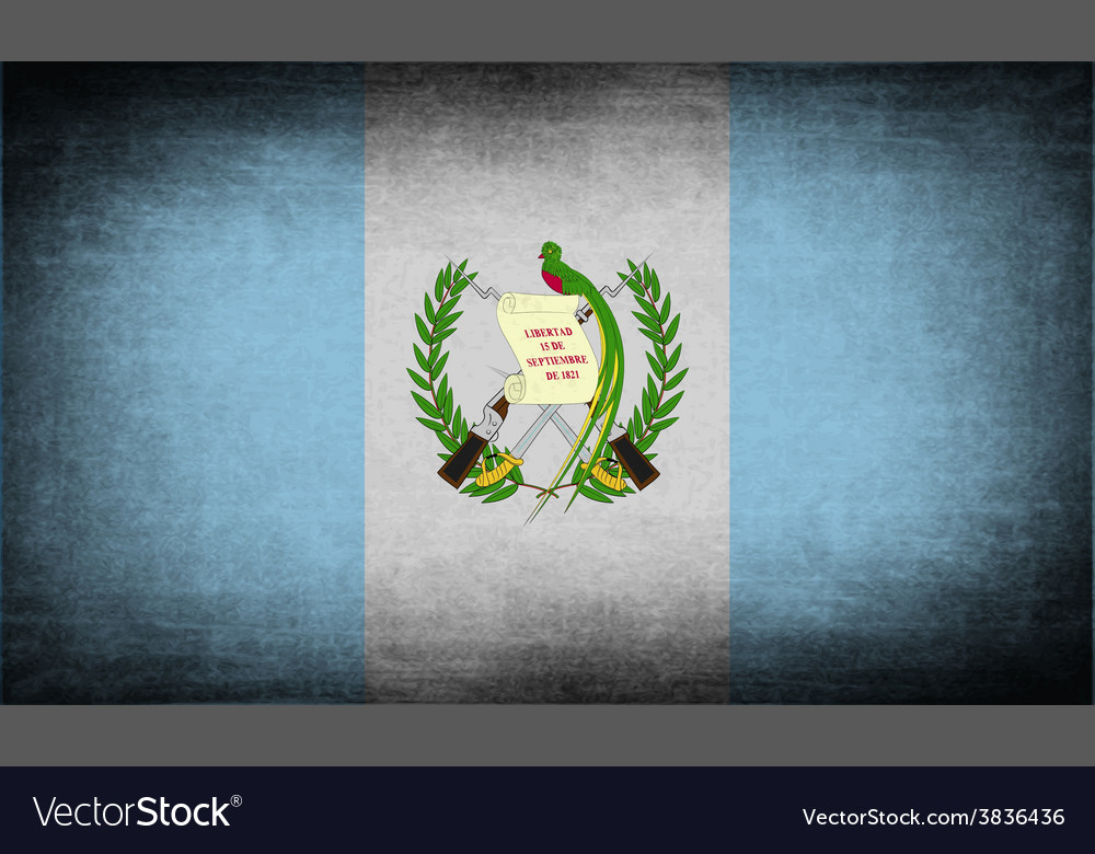 Flag of guatemala with old texture vector | Price: 1 Credit (USD $1)