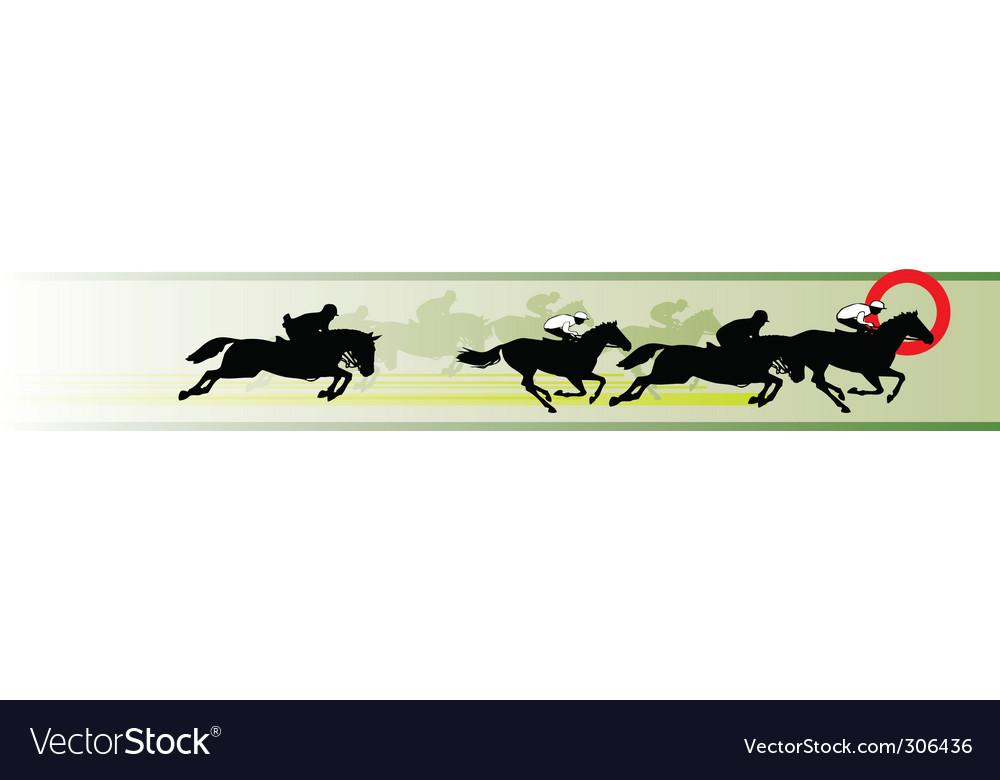 Horse racing banner vector | Price: 1 Credit (USD $1)