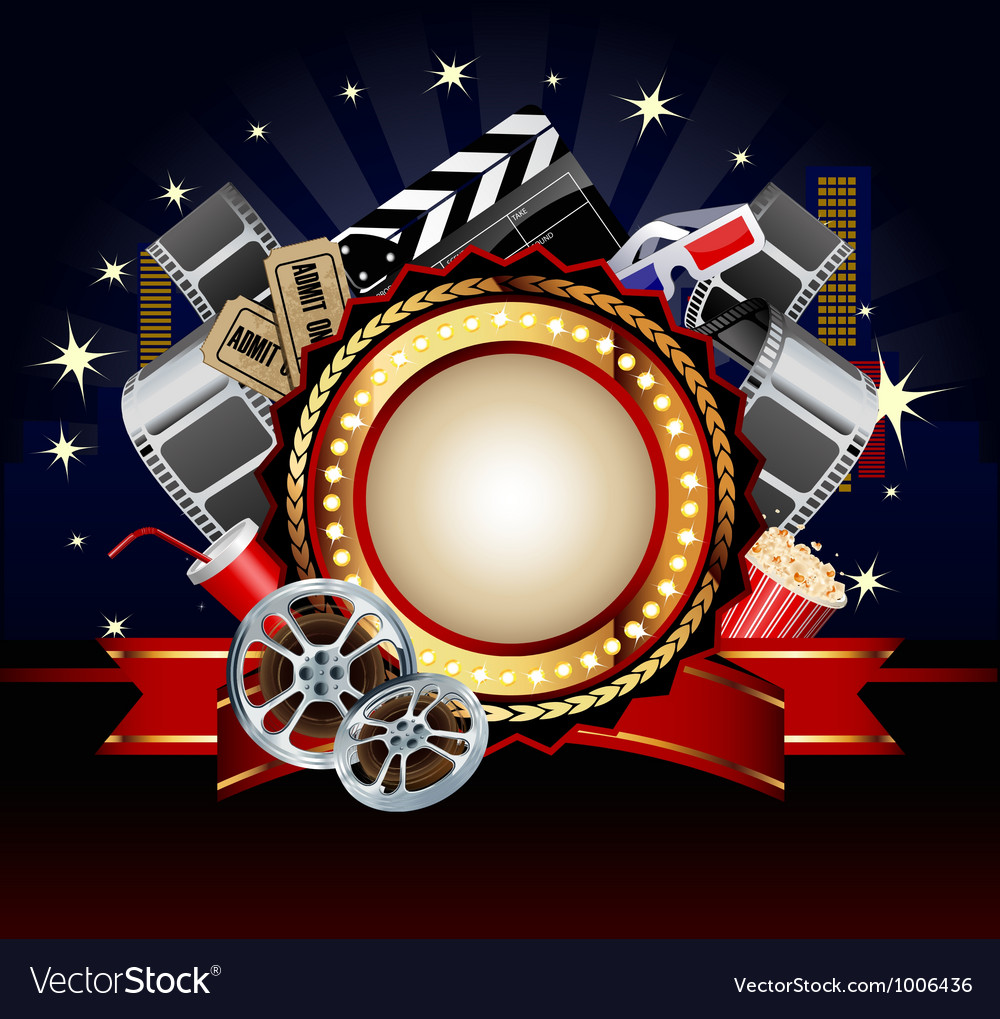 Movie background vector | Price: 3 Credit (USD $3)