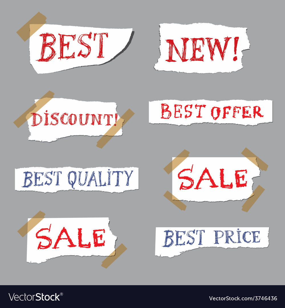Promotion labels vector | Price: 1 Credit (USD $1)