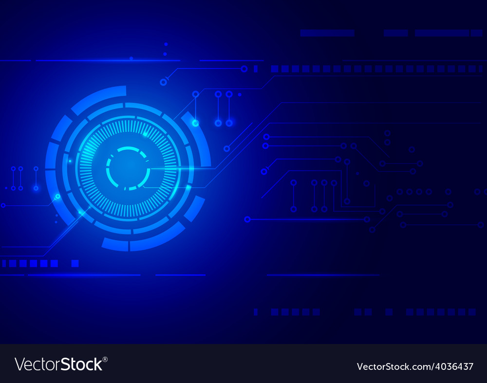 Abstract blue technology background vector | Price: 1 Credit (USD $1)