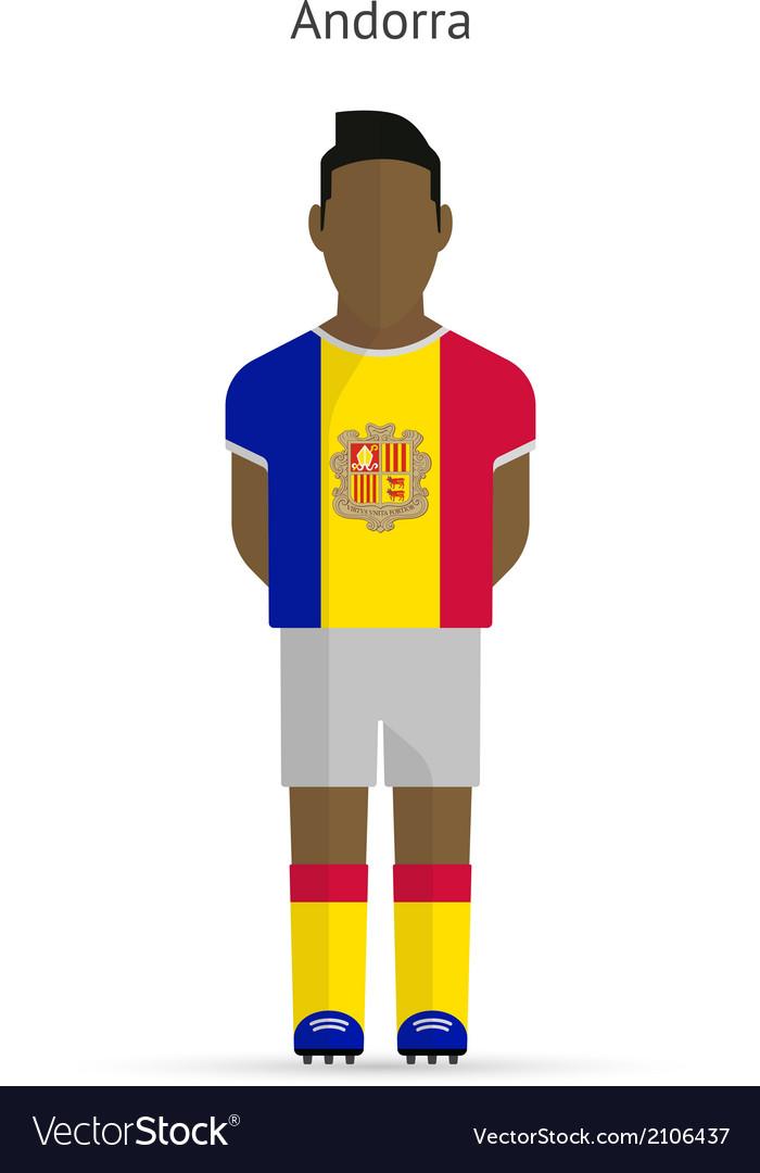 Andorra football player soccer uniform vector | Price: 1 Credit (USD $1)