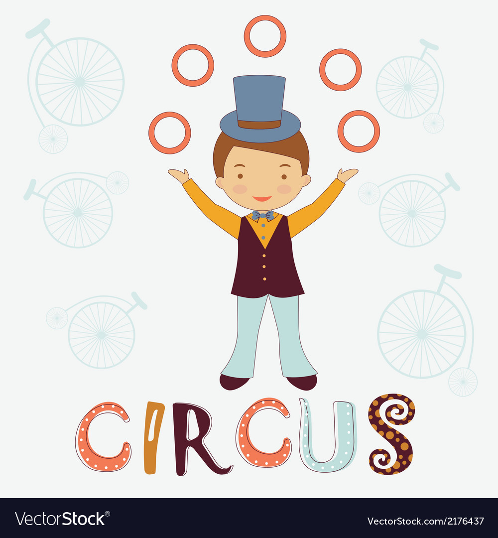 Circus card vector | Price: 1 Credit (USD $1)