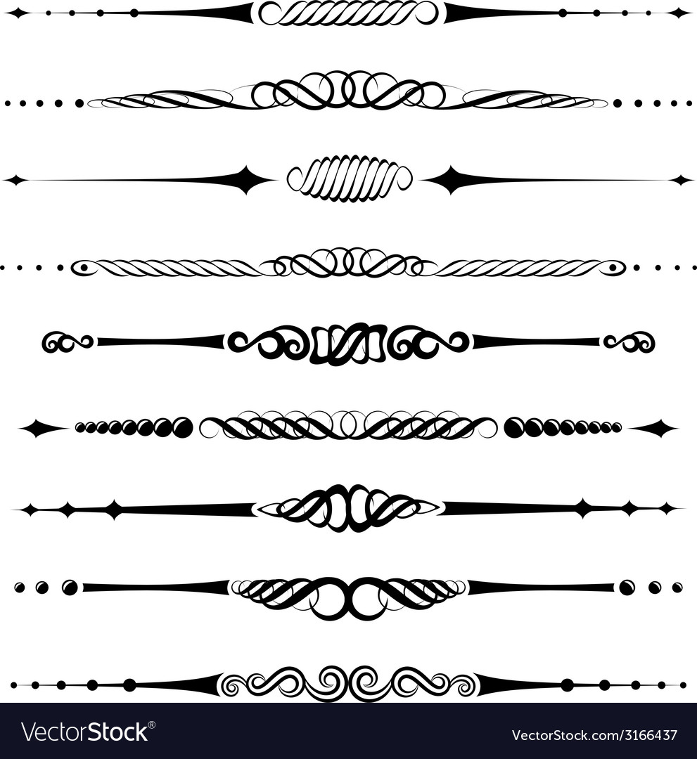 Dividers vector | Price: 1 Credit (USD $1)