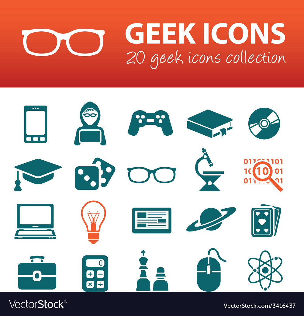Geek icons vector | Price: 1 Credit (USD $1)