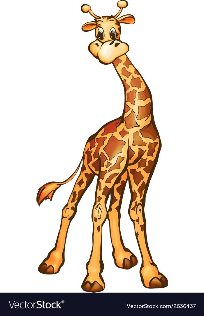 Giraffe in cartoon style vector | Price: 1 Credit (USD $1)