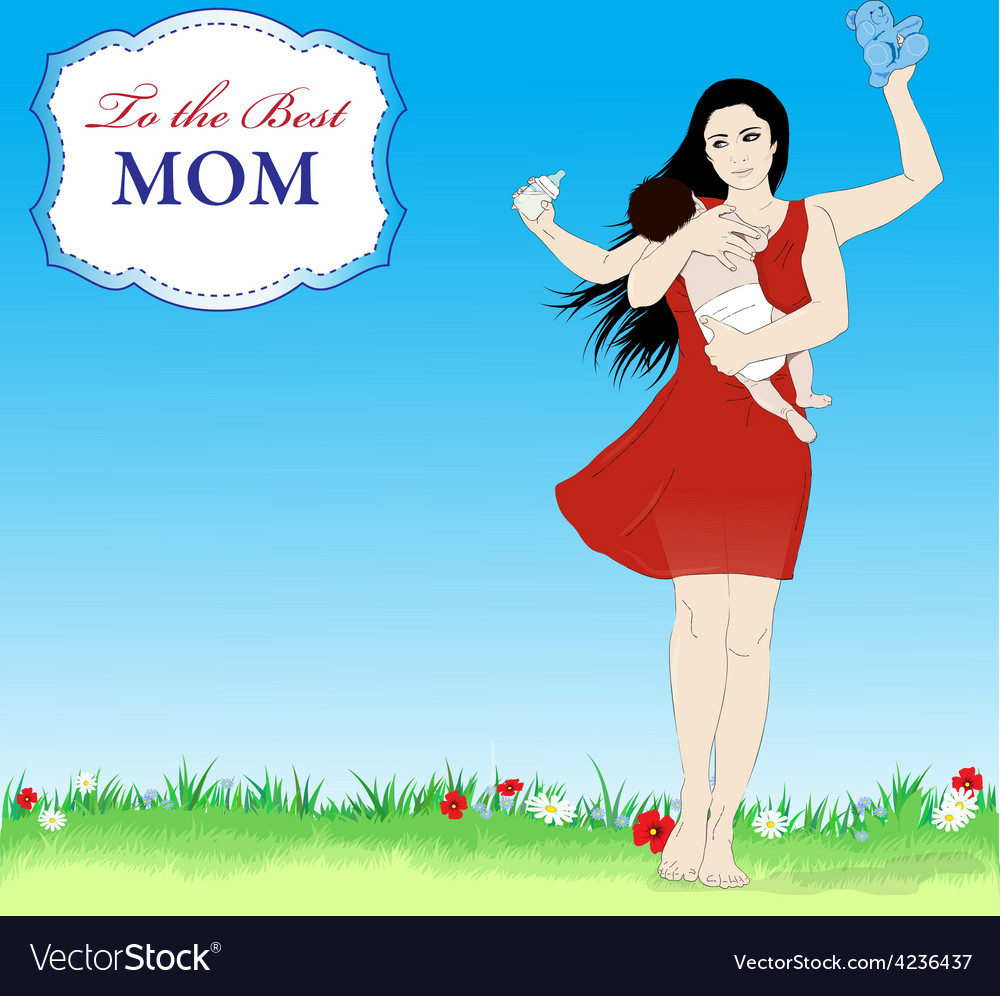 Happy mothers day banner vector | Price: 1 Credit (USD $1)