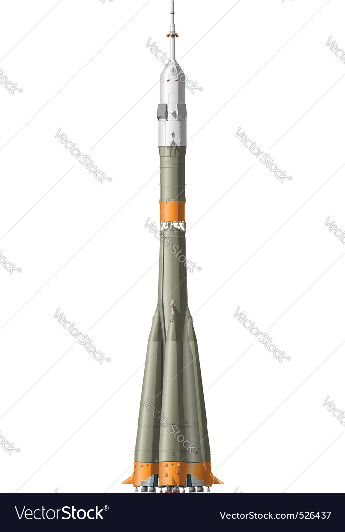 Hidetailed space rocket vector | Price: 3 Credit (USD $3)