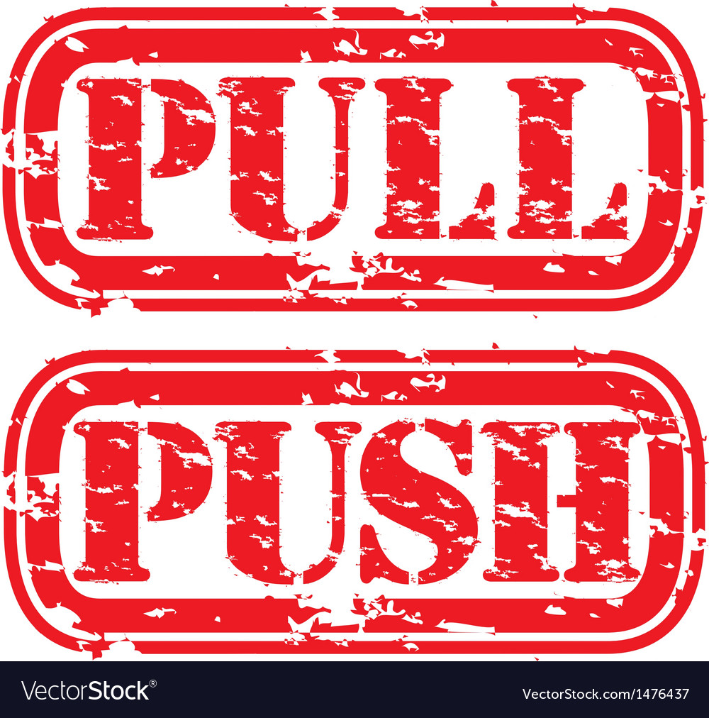 Push pull stamp vector | Price: 1 Credit (USD $1)