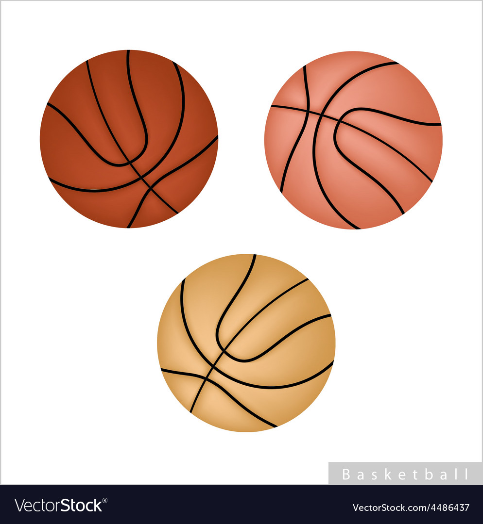 Set of basketball ball on white background vector | Price: 1 Credit (USD $1)